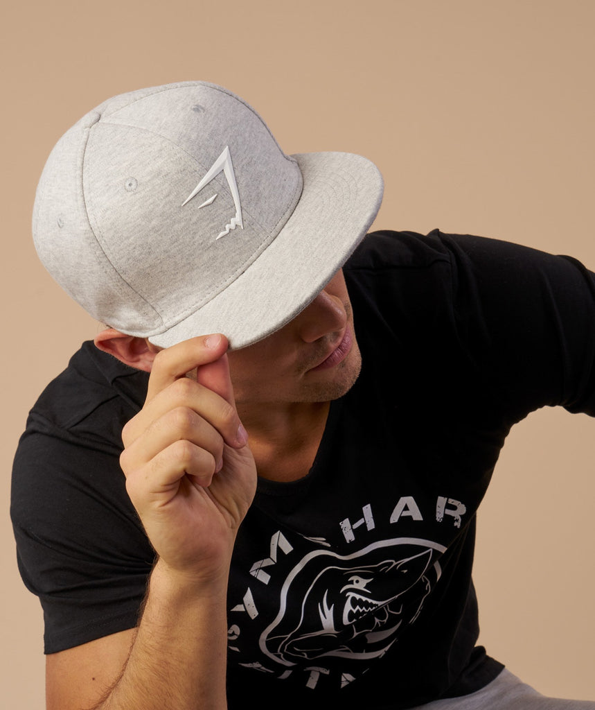 Gymshark Jersey Snapback - Light Grey Marl 5