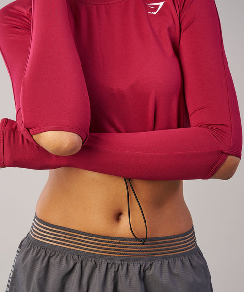 Gymshark Drawcord Crop Top - Beet 4