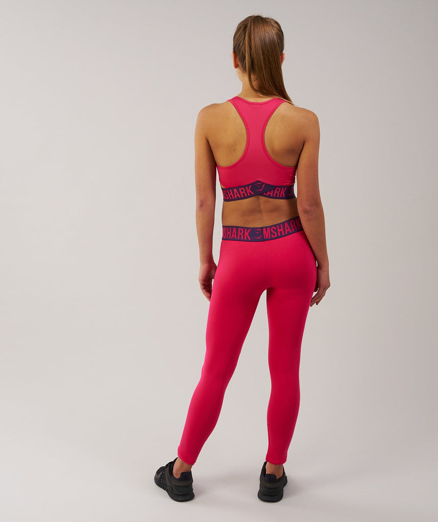 Gymshark Fit Sports Bra - Cranberry/Rich Purple 2