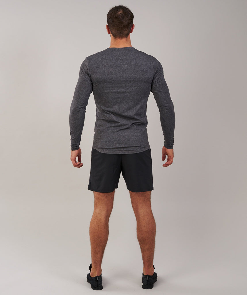 Gymshark Ark Long Sleeve T-Shirt - Charcoal Marl 2