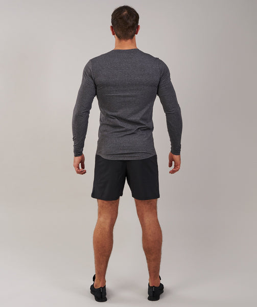 Gymshark Ark Long Sleeve T-Shirt - Charcoal Marl 1