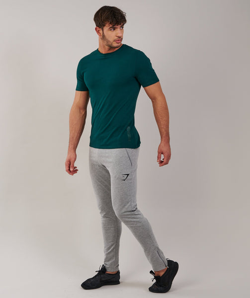 Brushed Cotton T-Shirt - Forest Green 3