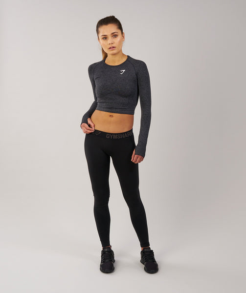 Gymshark Flex Leggings - Black Marl/Black 3