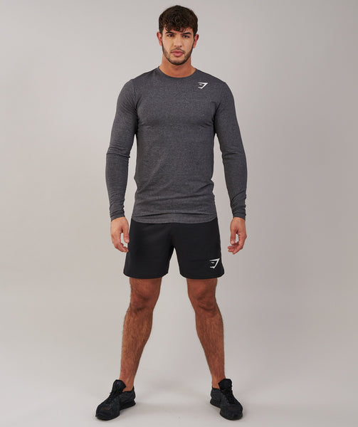 Gymshark Ark Long Sleeve T-Shirt - Charcoal Marl 3