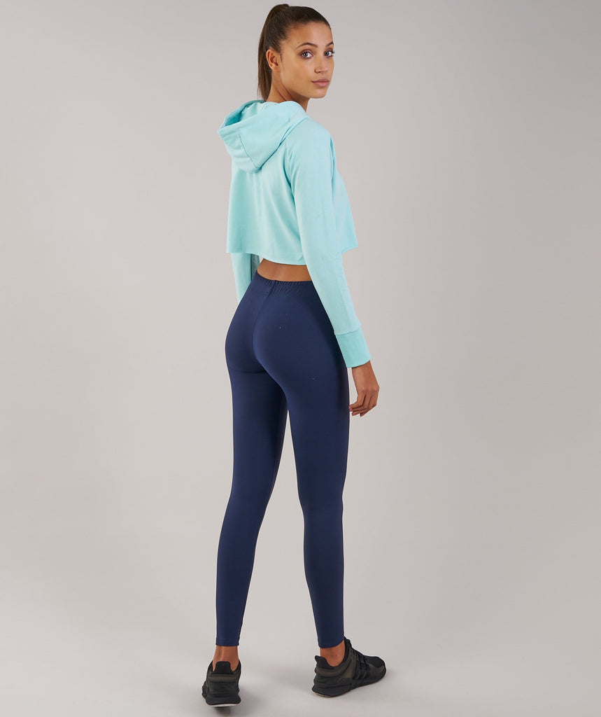 Gymshark Cropped Hoodie - Pale Turquoise 2