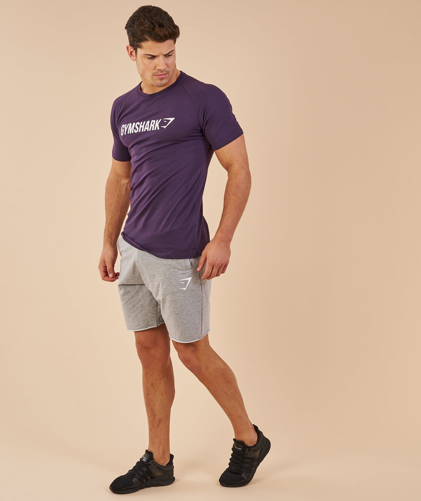 Gymshark Apollo T-Shirt - Nightshade Purple/White