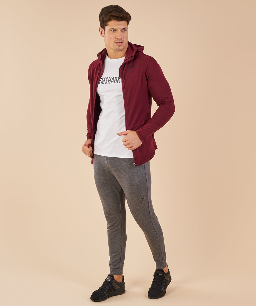 Gymshark Fit Hooded Top - Port