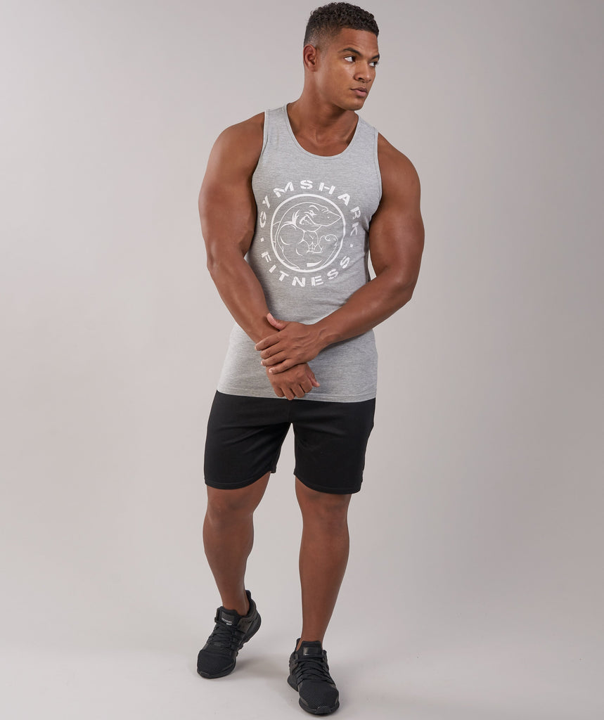 GymShark Fitness Tank - Light Grey Marl