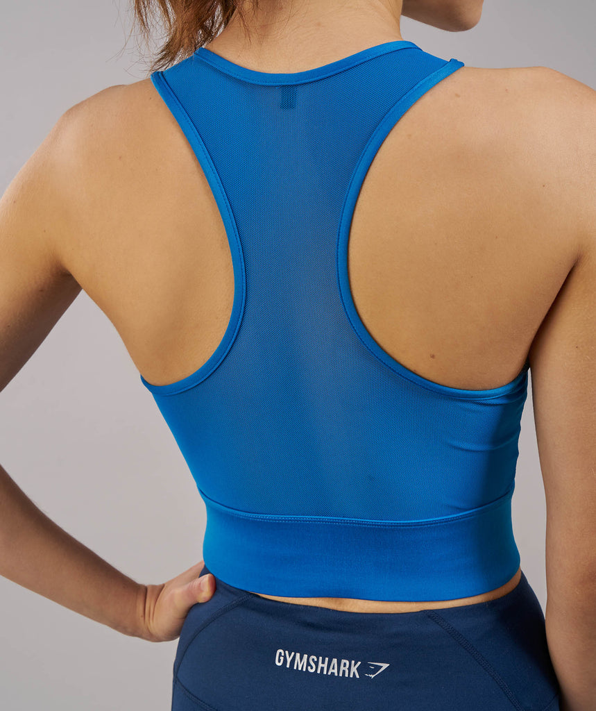 Gymshark Serene Sports Crop Top - Blueberry 5