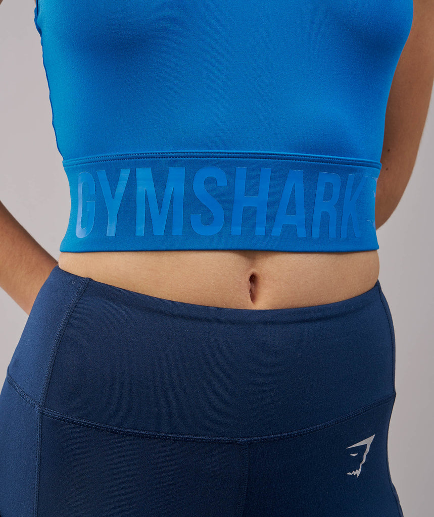 Gymshark Serene Sports Crop Top - Blueberry 6