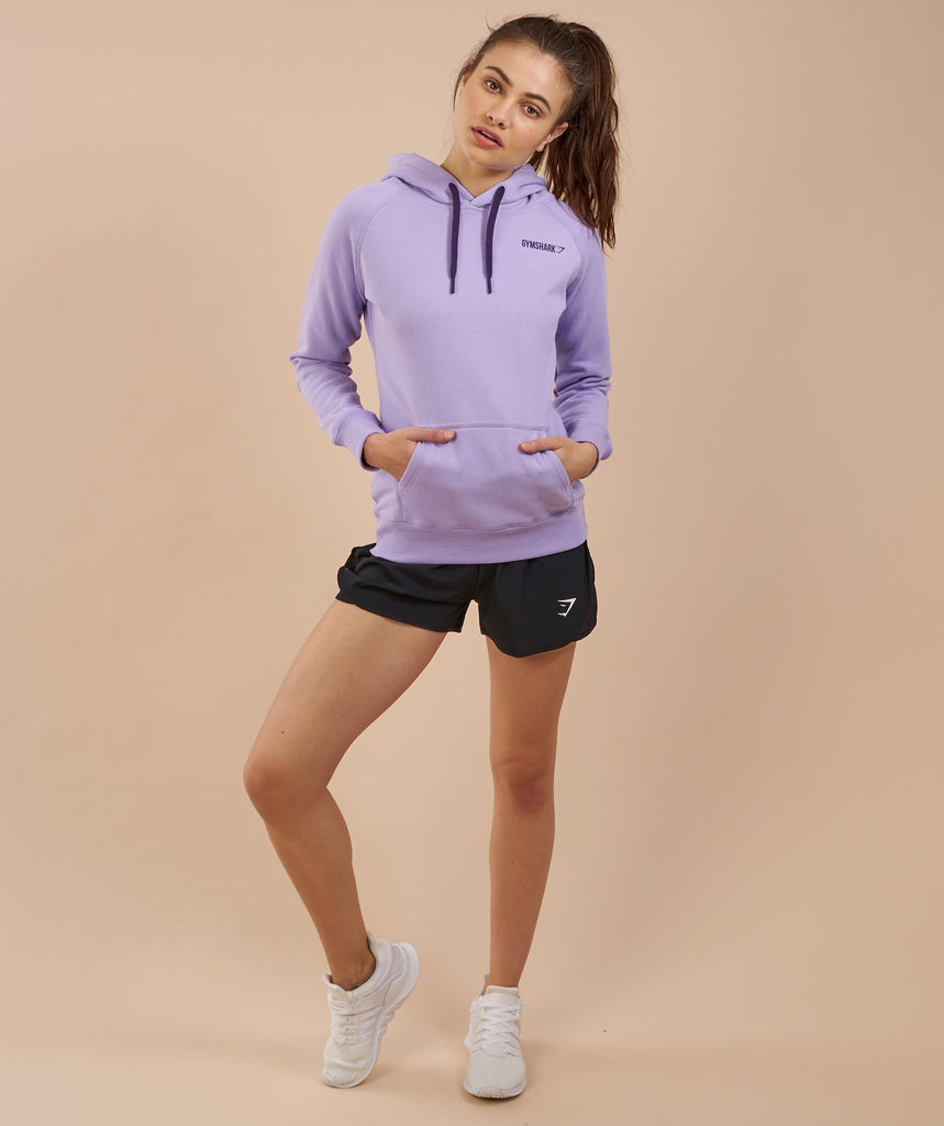 Gymshark Women's Crest Hoodie - Soft Lilac/Rich Purple 1