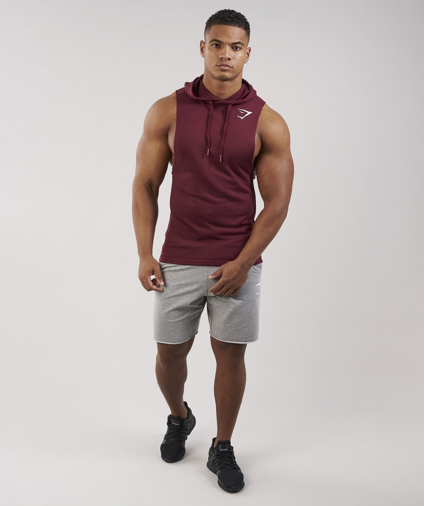 Gymshark Drop Arm Sleeveless Hoodie - Port 1