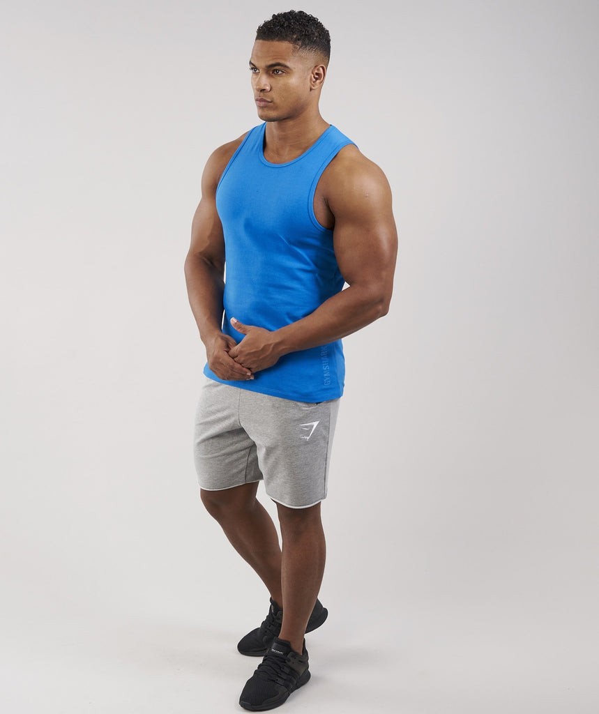 Gymshark Brushed Cotton Tank - Dive Blue 2