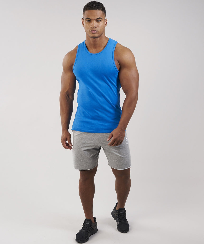 Gymshark Brushed Cotton Tank - Dive Blue 1