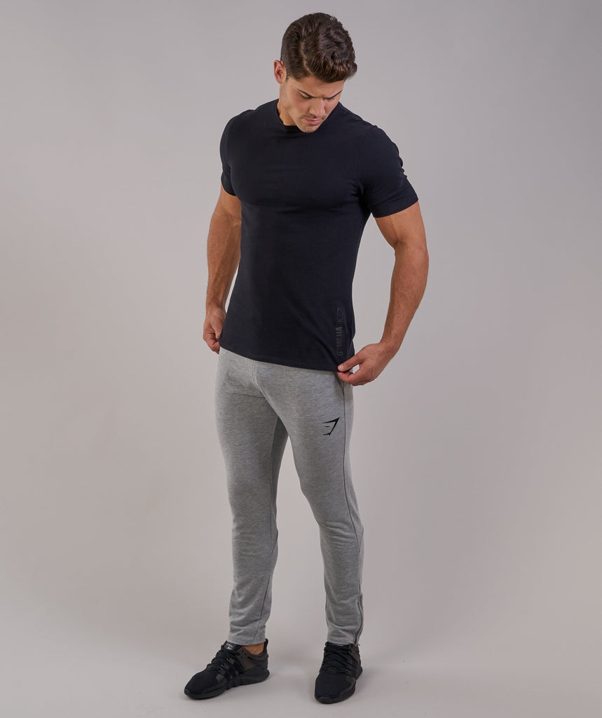 Gymshark Brushed Cotton T-Shirt - Black 2