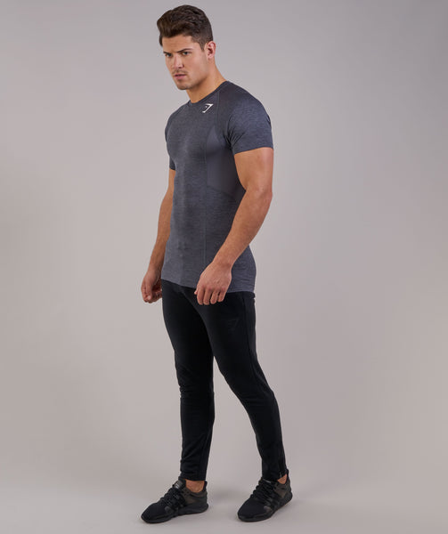 Gymshark Element Baselayer Short Sleeve Top - Charcoal Marl 1