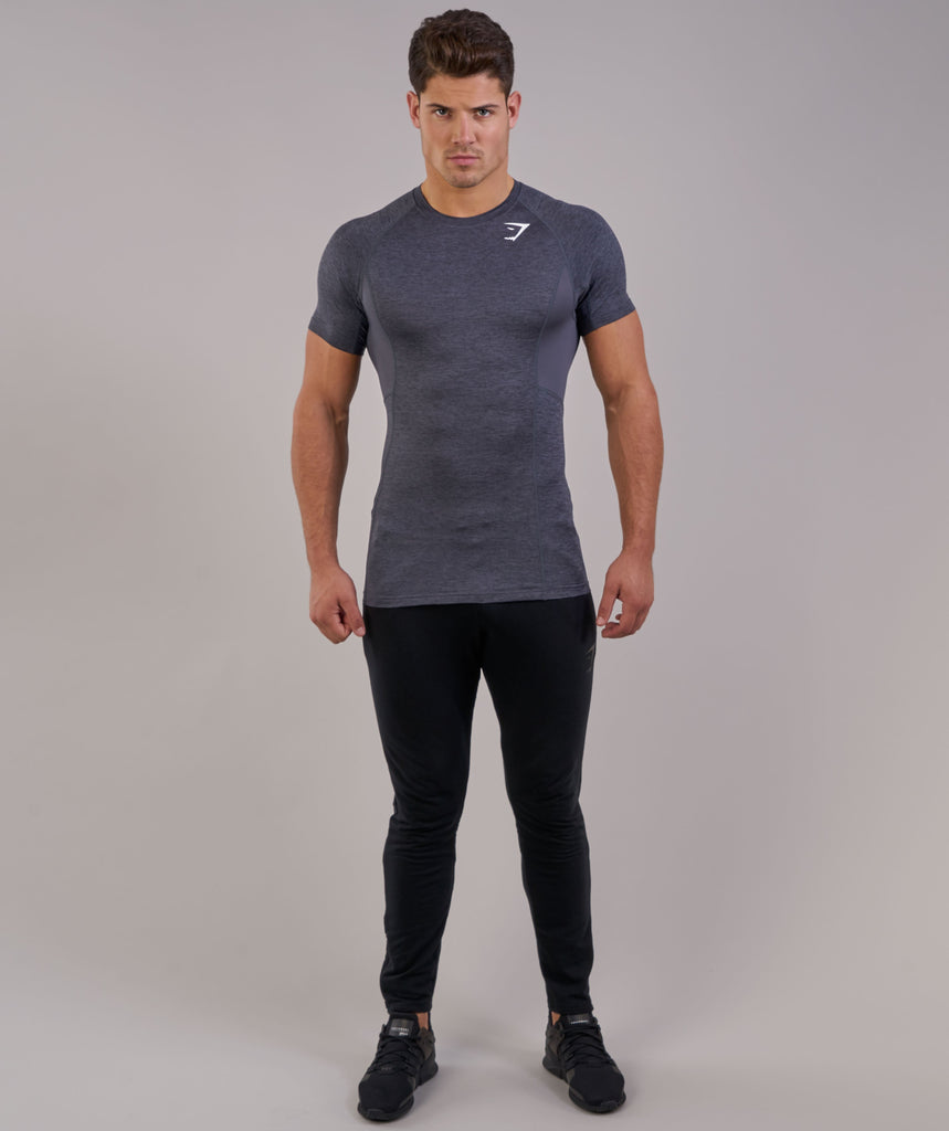 Gymshark Element Baselayer Short Sleeve Top - Charcoal Marl 4