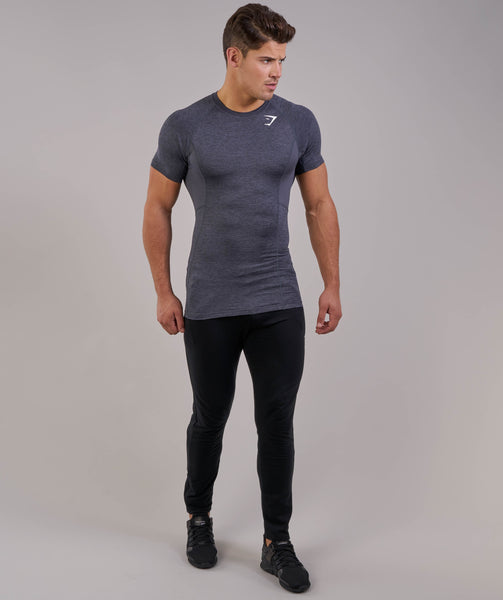 Gymshark Element Baselayer Short Sleeve Top - Charcoal Marl 3