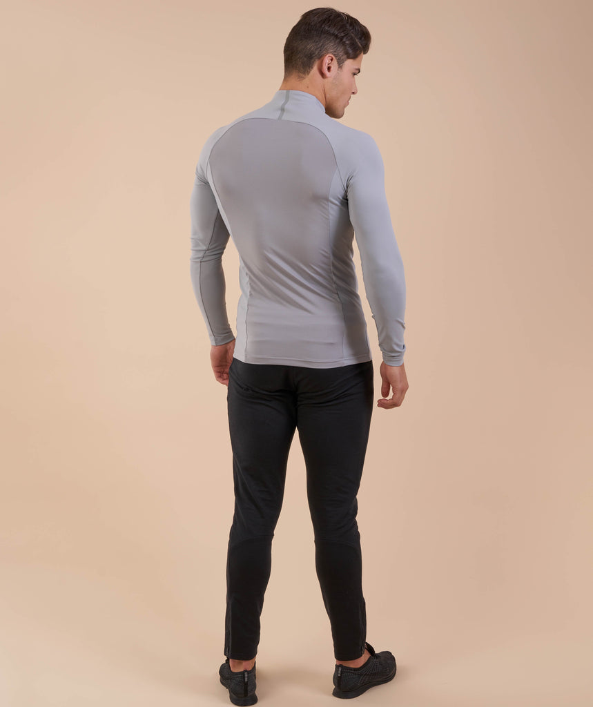 Gymshark Edge 1/4 Zip Pullover - Light Grey 2