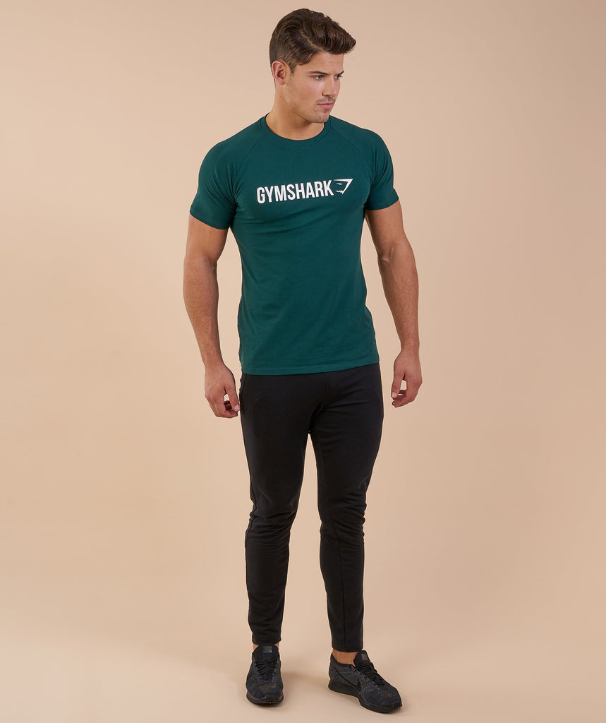 Gymshark Apollo T-Shirt - Forest Green/White