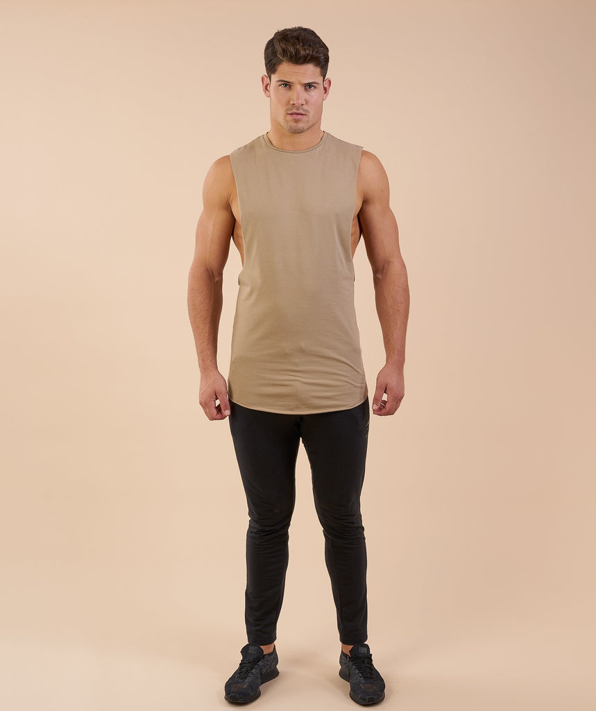 Gymshark Eaze Sleeveless T-Shirt - Coffee