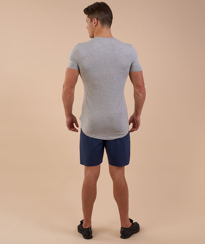 Gymshark Solace Longline T-Shirt - Light Grey Marl 2