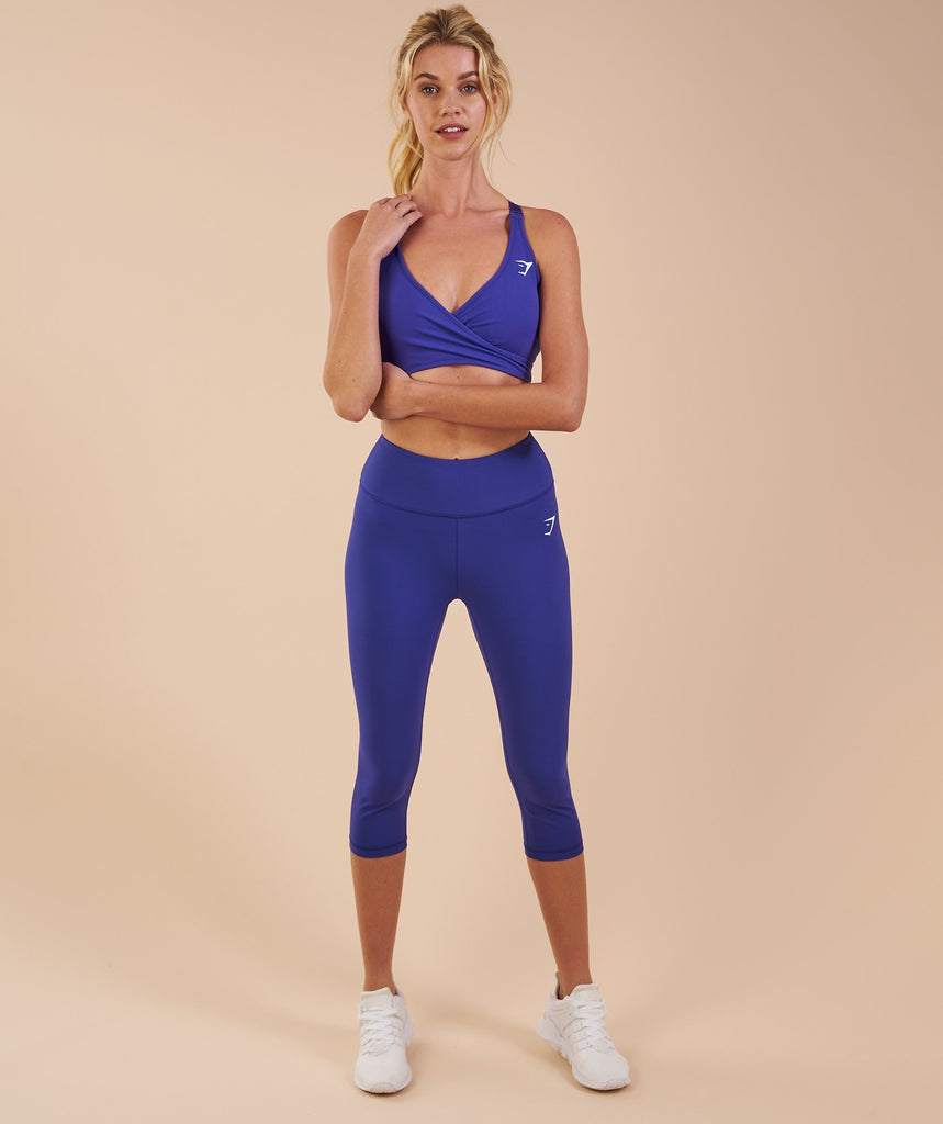Gymshark Dreamy Cropped Leggings - Indigo
