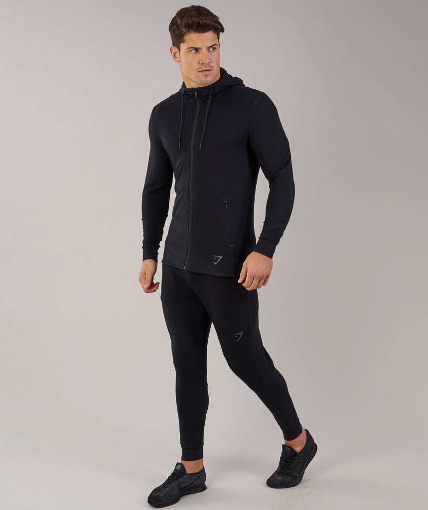 Gymshark Enlighten Zip Hoodie  - Black 1