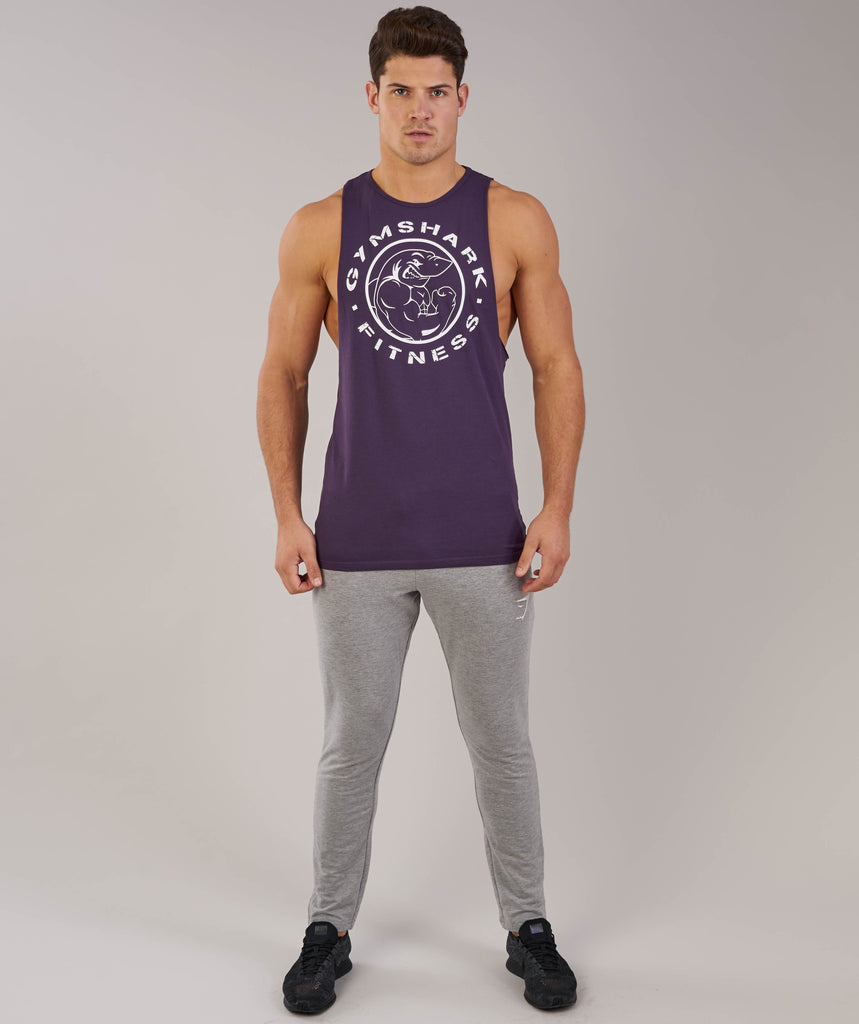 Gymshark Fitness Drop Armhole Tank - Nightshade Purple