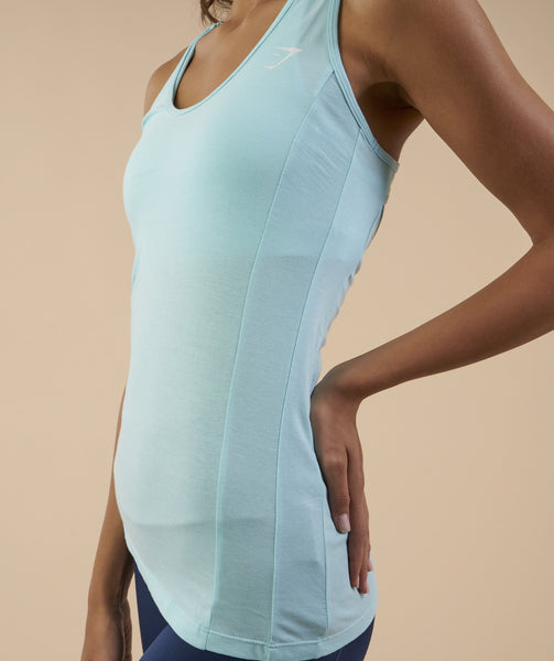 Gymshark Tempo Vest - Pale Turquoise 4