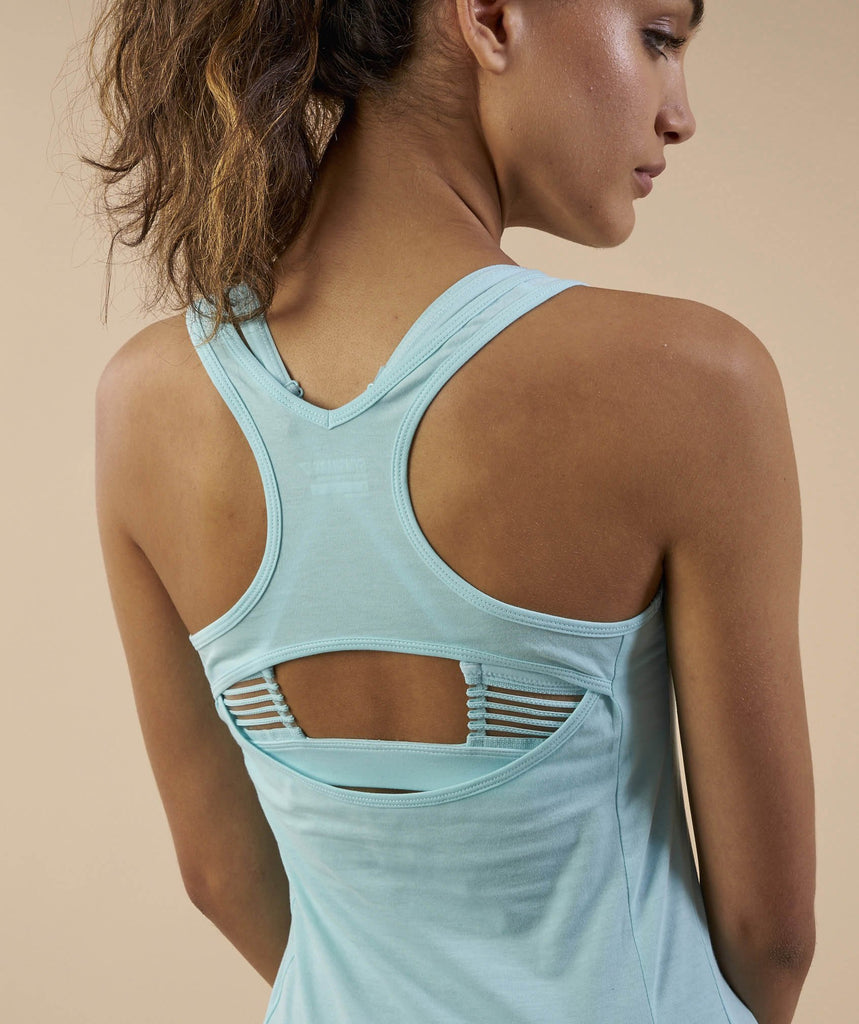 Gymshark Tempo Vest - Pale Turquoise 6