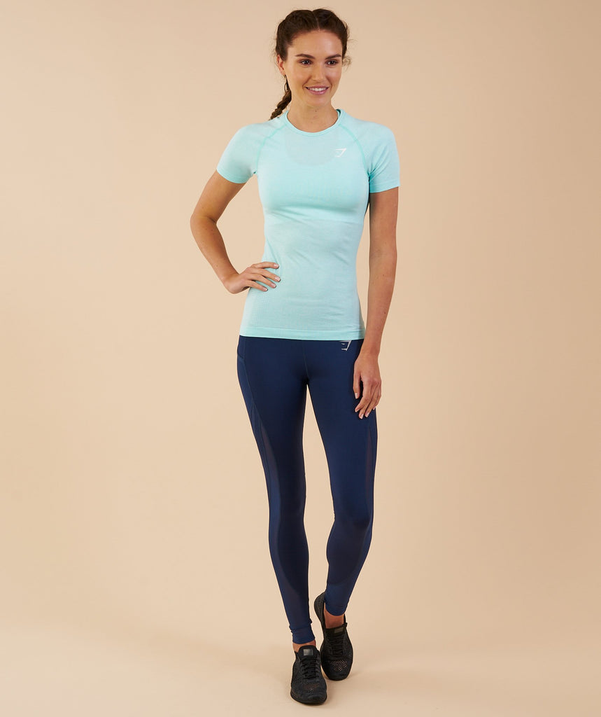 Gymshark Vital Seamless T-Shirt - Pale Turquoise Marl 4