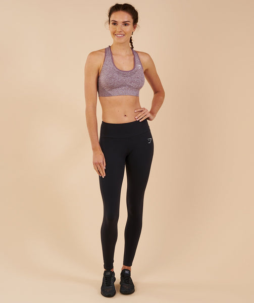 Gymshark Vital Seamless Sports Bra - Purple Wash Marl 4