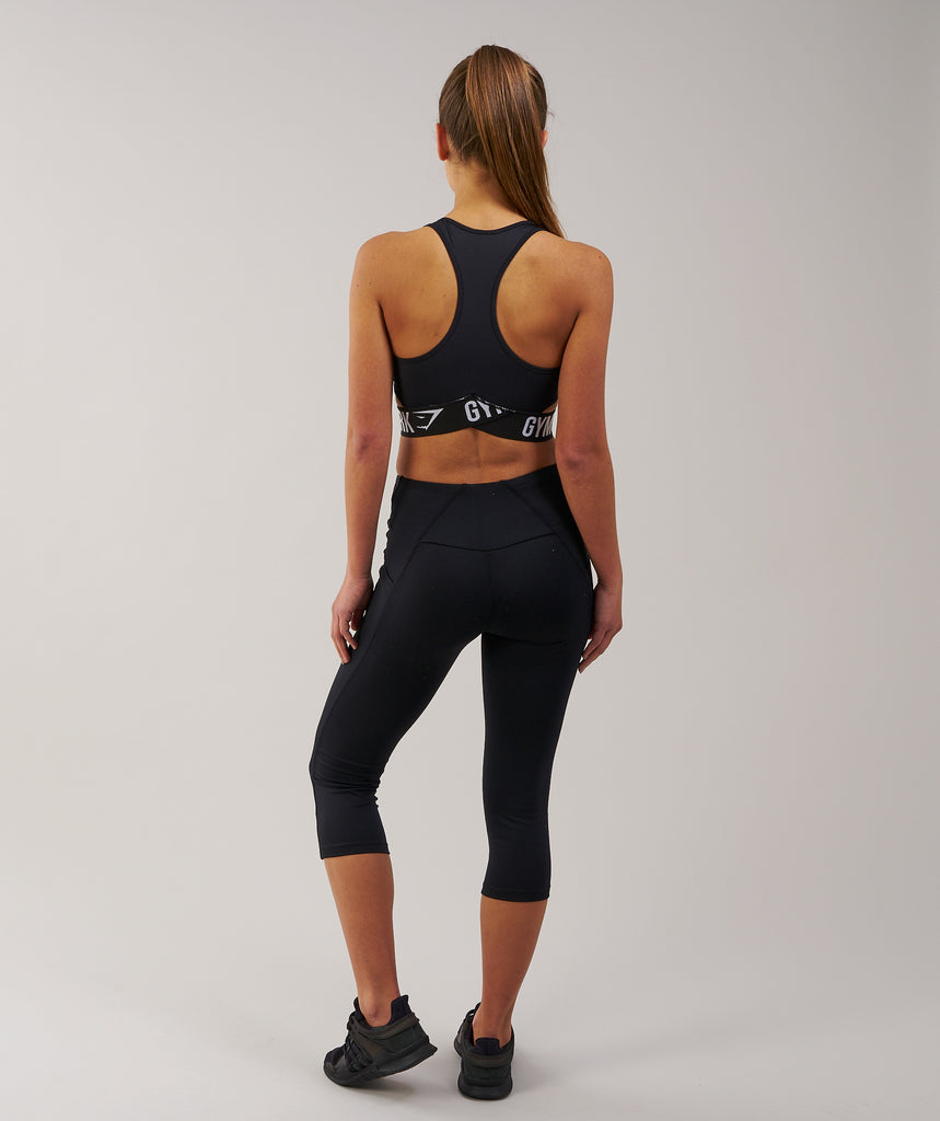 Gymshark DRY Sculpture Cropped Leggings - Black 2