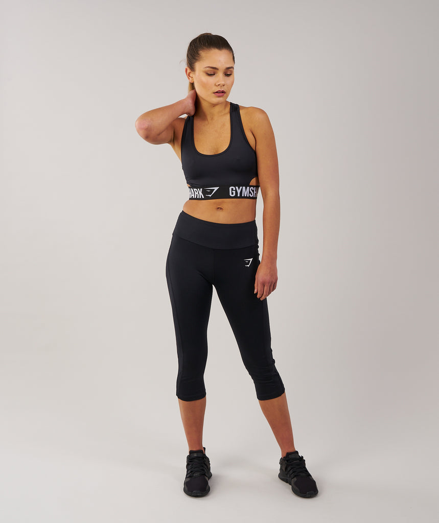 Gymshark DRY Sculpture Cropped Leggings - Black 1