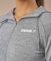 Gymshark Fit Zip Hoodie - Light Grey 11