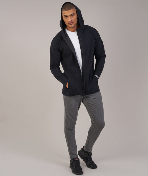 Gymshark fully fused zip hoodie black 3 for Housse zip collection captur