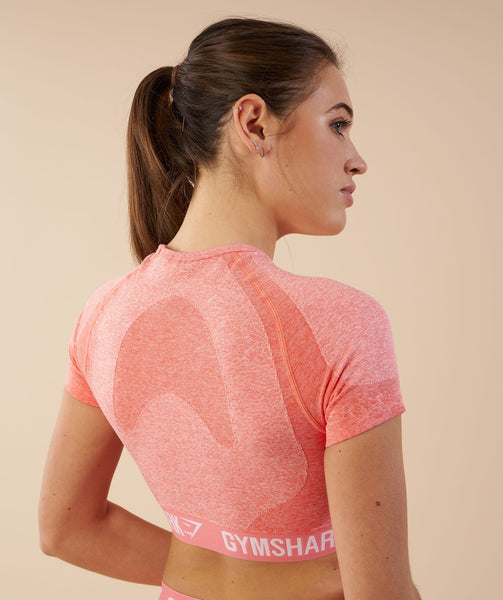 Gymshark Flex Crop Top - Peach Coral 4