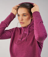 Gymshark Cross Back Hoodie - Deep Plum Marl 12