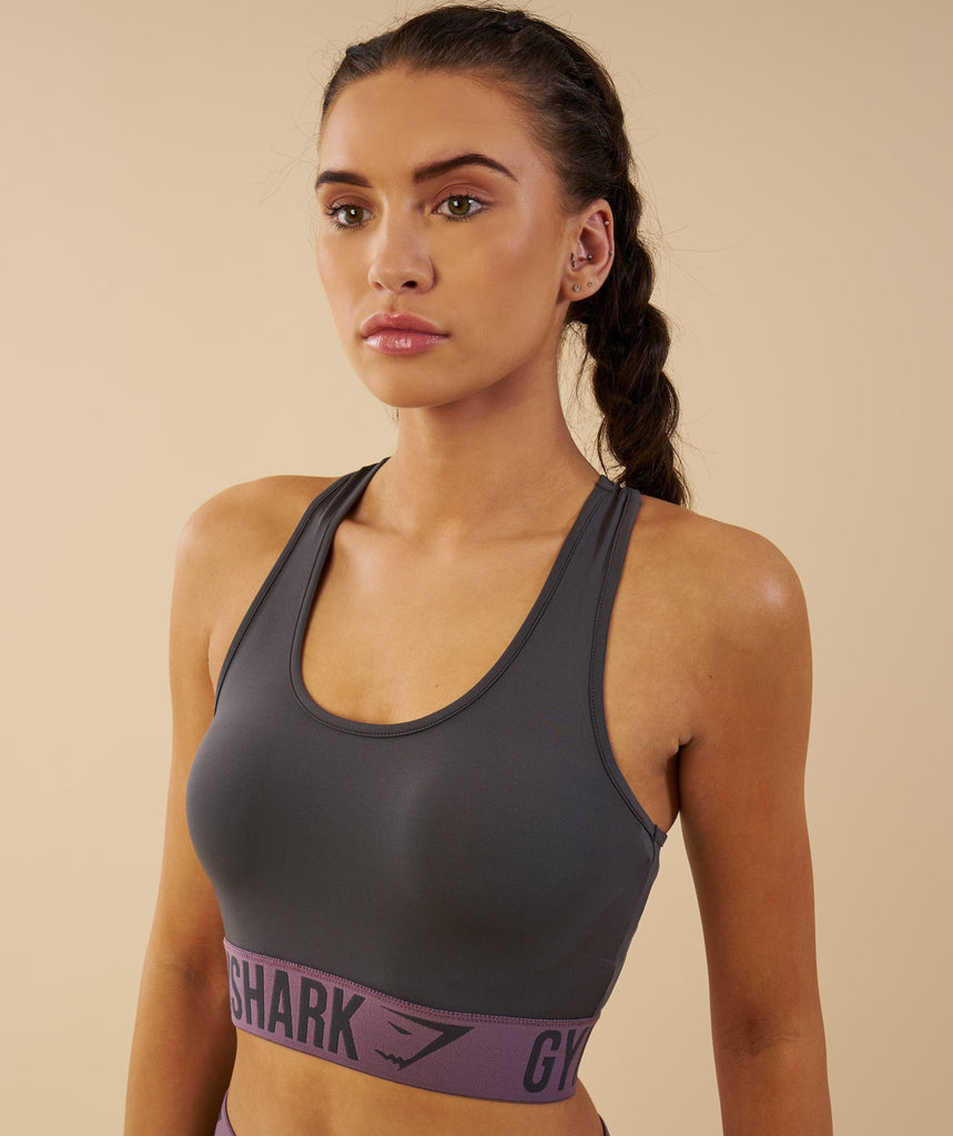 Gymshark Fit Sports Bra - Charcoal/Purple Wash 2