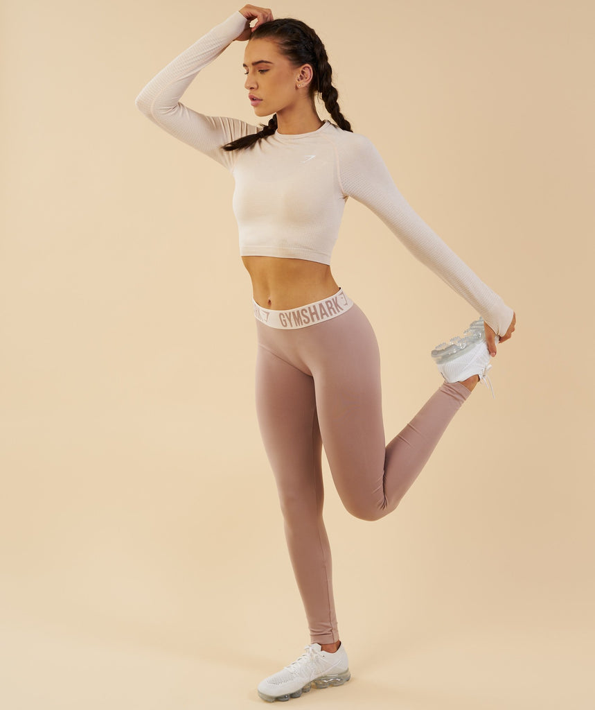 Gymshark Vital Seamless Long Sleeve Crop Top - Sand 5