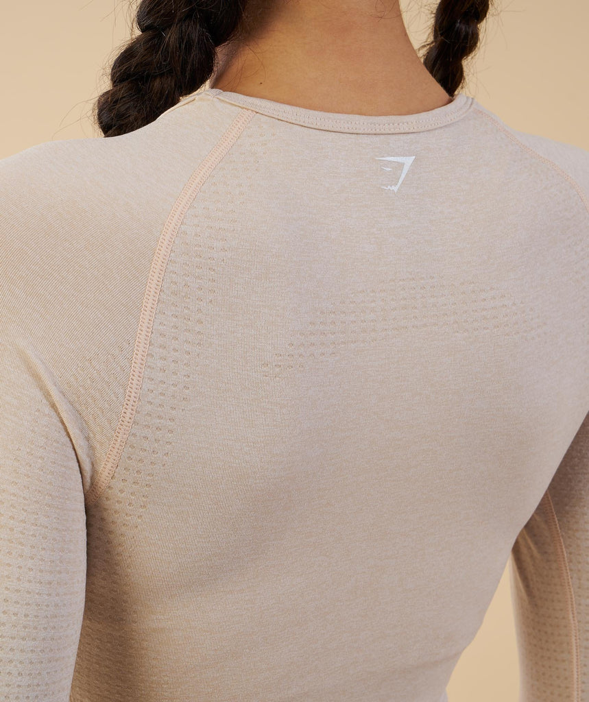 Gymshark Vital Seamless Long Sleeve Crop Top - Sand 6