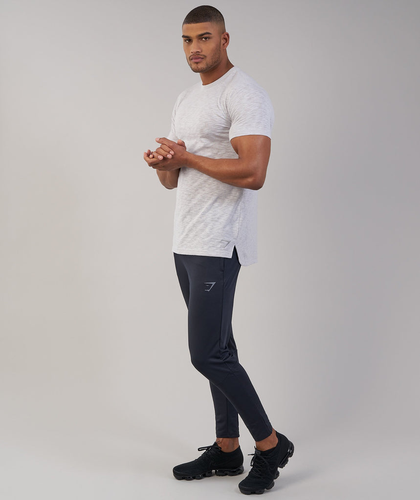 Gymshark Heather T-Shirt - Light Grey Marl 1