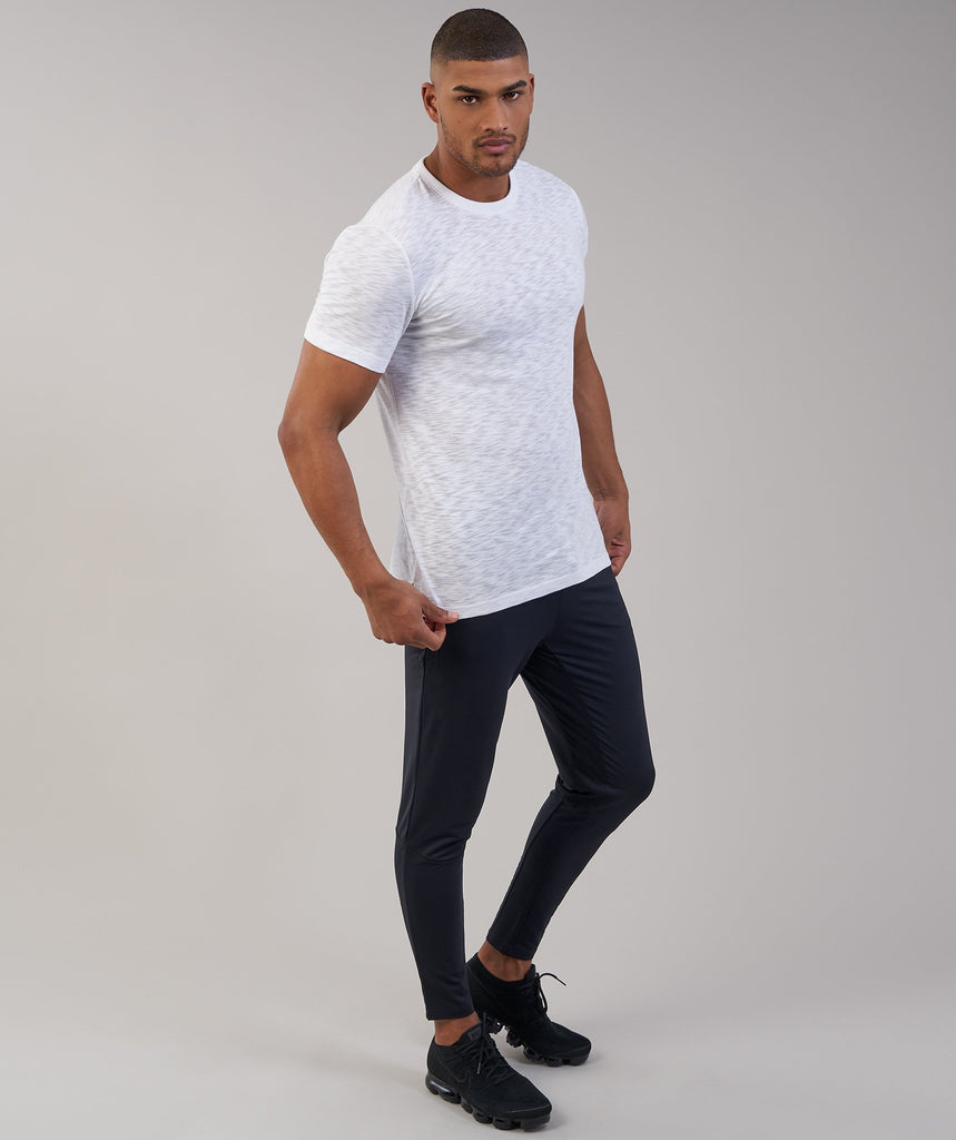 Gymshark Heather T-Shirt - White Marl 1