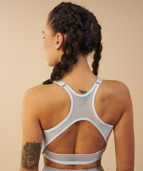 Gymshark Elite Sports Bra - Ice Blue 1