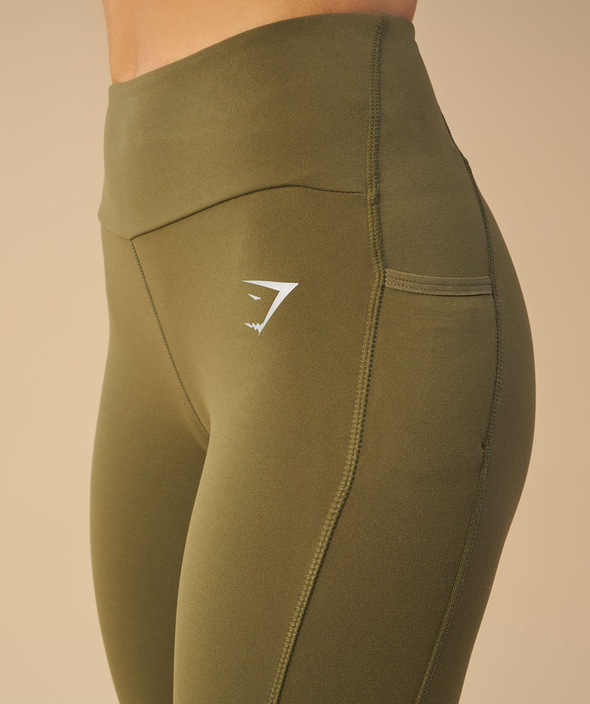 Gymshark Aspire Leggings - Khaki 2