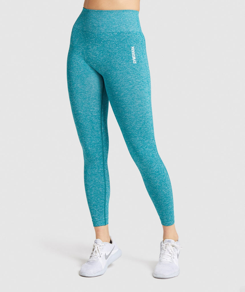 Victoria's Secret Pink Seamless Work Out Tight Turquoise Blue. CHOOSE YOUR SIZE