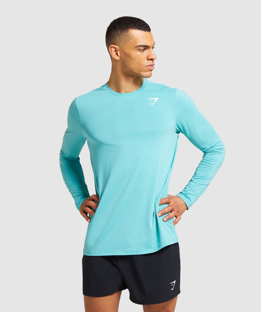 Gymshark Arrival Long Sleeve T-shirt - Light Blue 1