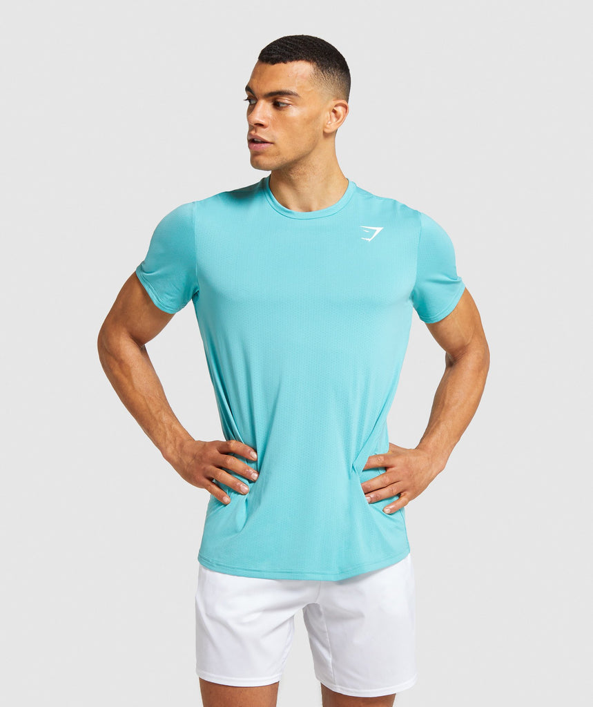 Gymshark Arrival T-Shirt - Light Blue 1