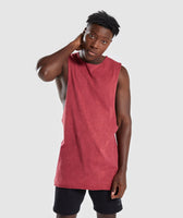 Gymshark Acid Wash Drop Arm Sleeveless T-Shirt - Port 7